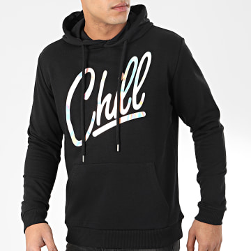 Sweat Capuche Chill Iridescent Noir