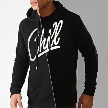Sweat Capuche Chill Reflective Noir