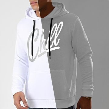 Sweat Capuche Chill Reflective Blanc
