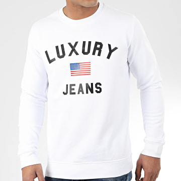 Sweat Crewneck Luxury Jeans Blanc