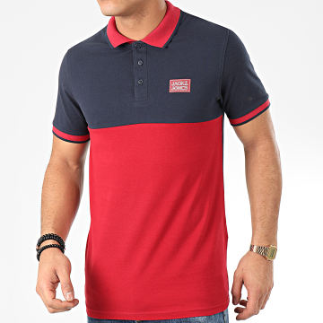 Jack And Jones - Polo Manches Courtes Zero Rouge Bleu Marine