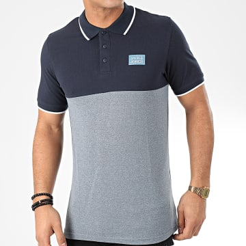 Jack And Jones - Polo Manches Courtes Zero Bleu Marine Bleu Clair Chiné