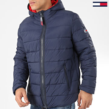 Tommy Jeans - Doudoune Capuche Essential Padded 7365 Bleu Marine