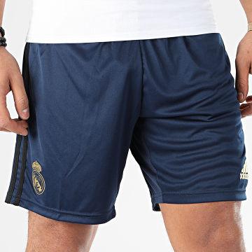 Short Jogging A Bandes Real Madrid DW4434 Bleu Marine Doré Noir