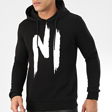 Ninho - Sweat Capuche H001 Noir Blanc