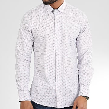 Paname Brothers - Chemise Manches Longues CH56 Blanc
