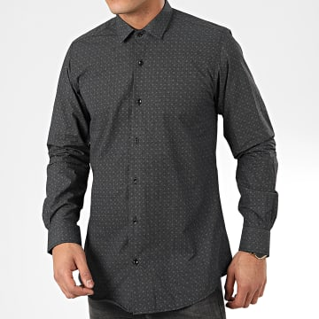 Paname Brothers - Chemise Manches Longues CH28 Noir Gris