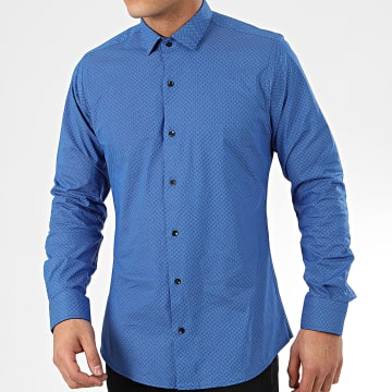 Paname Brothers - Chemise Manches Longues CH64 Bleu