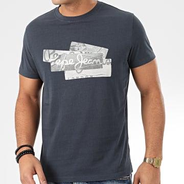Pepe Jeans - Tee Shirt Bobby PM506910 Bleu Gris