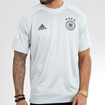 Tee Shirt De Sport A Bandes DFB FI0746 Gris Clair