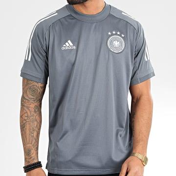 Tee Shirt De Sport A Bandes DFB FI0747 Gris Anthracite