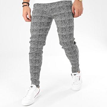 Pantalon Carreaux 1677 Noir Blanc