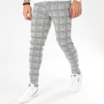 Pantalon Carreaux 1677 Blanc Noir