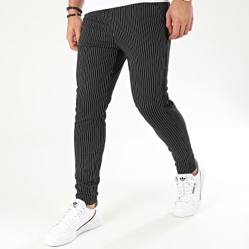Pantalon A Rayures Avec Bandes 1670 Noir