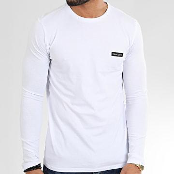 Teddy Smith - Tee Shirt Manches Longues Nark Blanc