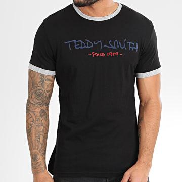 Teddy Smith - Tee Shirt Ringer Noir