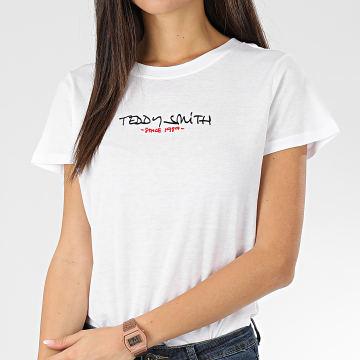 Teddy Smith - Tee Shirt Femme Ticia Blanc