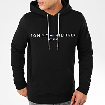 Tommy Hilfiger - Sweat Capuche Core Tommy Logo 0752 Noir