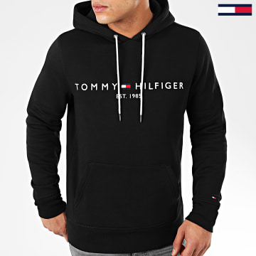 Sweat Capuche Core Tommy Logo 0752 Noir