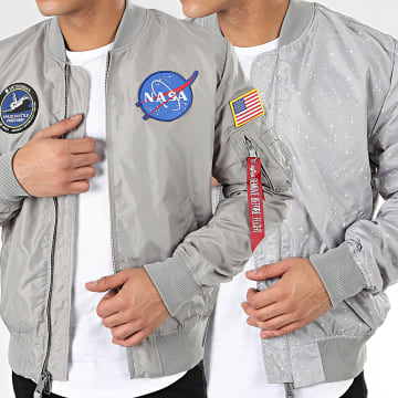 Alpha Industries - Bomber MA-1 TT NASA Reversible II 186101 Gris