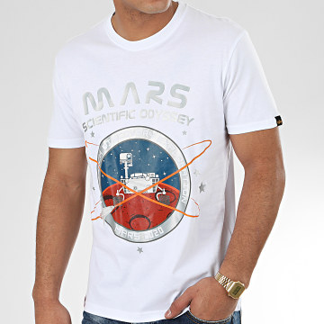 Alpha Industries - Tee Shirt Mission To Mars 126531 Blanc Argenté
