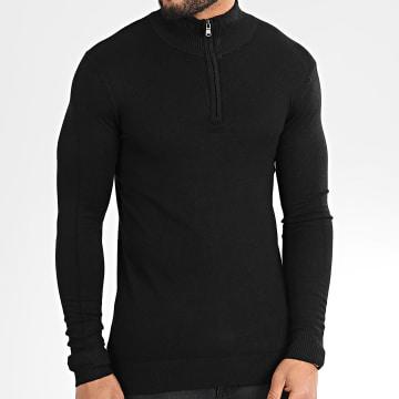 Sweat Col Zippé LD-6673 Noir