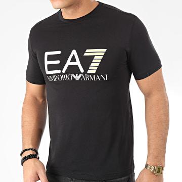 Tee Shirt 3HPT05-PJ03Z Noir Argenté Jaune