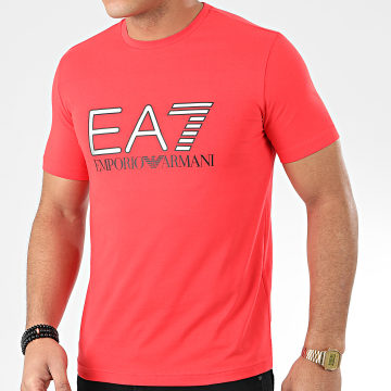Tee Shirt 3HPT05-PJ03Z Rouge Argenté Blanc