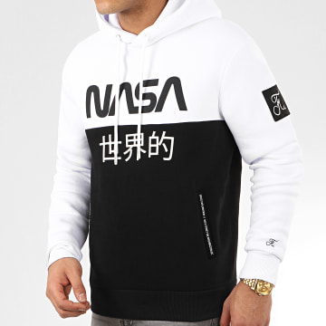 Sweat Capuche Japan Exploration Avec Patch 337 Noir Blanc
