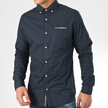 Jack And Jones - Chemise Manches Longues Tape Detail Bleu Marine