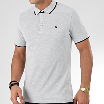 Jack And Jones - Polo Manches Courtes Paulos Gris Chiné