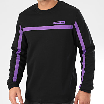 Sweat Crewneck A Bandes Super Cell Noir