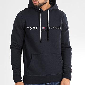 Tommy Hilfiger - Sweat Capuche Core Tommy Logo 0752 Bleu Marine