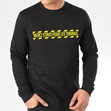 13 Block - Tee Shirt Manches Longues Travaux Noir Jaune