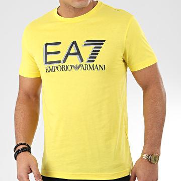 Tee Shirt 3HPT81-PJM9Z Jaune Argenté Noir