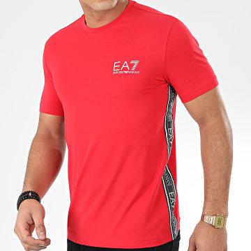 Tee Shirt 3HPT07-PJ03Z Rouge Noir Blanc