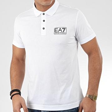 EA7 - Polo Manches Courtes 8NPF12-PJNQZ Blanc