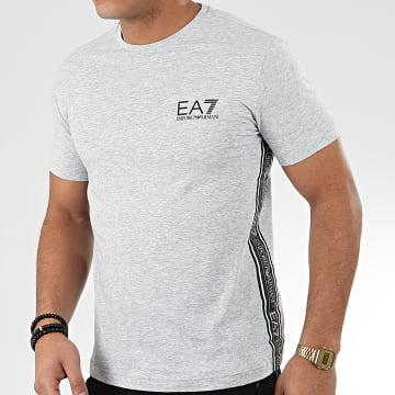 Tee Shirt 3HPT07-PJ03Z Gris Chiné Noir