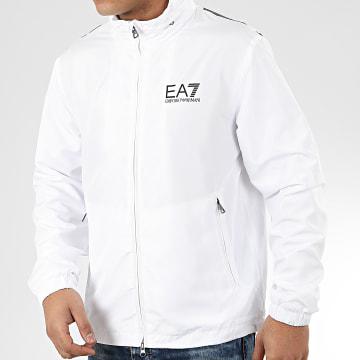 EA7 - Veste Zippée Capuche 3HPB03-PN28Z Blanc Noir
