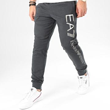 Pantalon Jogging 8NPPC3-PJ05Z Noir Délavé Argenté