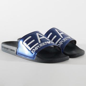 EA7 - Claquettes Slipper Visibility XCP001-XCC22 Noir Bleu Marine