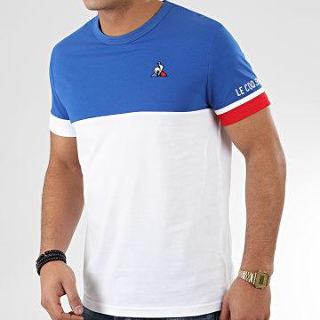 Le Coq Sportif - Tee Shirt Tricolore SS N1 2010437 Blanc Bleu Marine Rouge