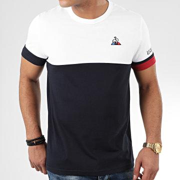 Tee Shirt Tricolore N1 2010438 Blanc Bleu Marine