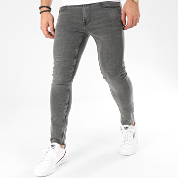 Only And Sons - Jean Skinny Warp Crop 4889 Gris Anthracite