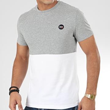 Tee Shirt Collective Colour Block M1000071A Gris Chiné