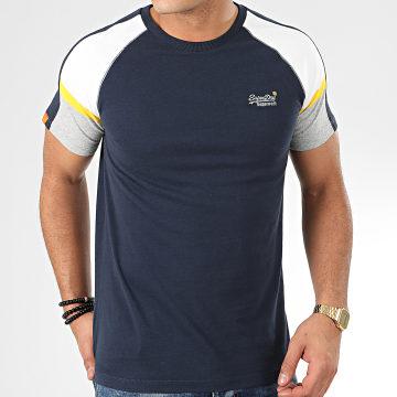 Tee Shirt OL Crafted Casual Baseball M1000083A Bleu Marine
