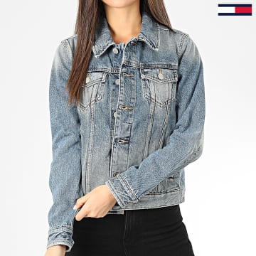 Tommy Jeans - Veste En Jean Femme Regular Trucker 7674 Bleu Denim
