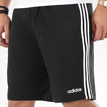 adidas - Short Jogging A Bandes Essential 3 Stripes DU7830 Noir