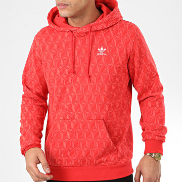 Sweat Capuche Mono All Over Print FM3407 Rouge