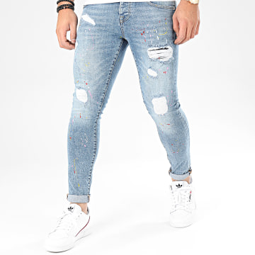 GRJ Denim - Jean Slim 13871 Bleu Wash